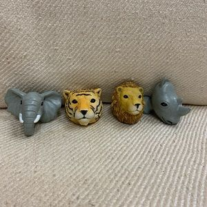 Adorable Safari Drawer Pulls 🐘🐅